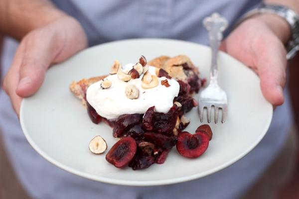 Sweet Cherry and Hazelnut Galette