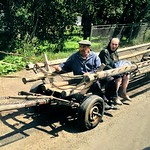 Probably the best ukrainian transport #horse #buggy #people #village #town #country #Ukraine #Europe