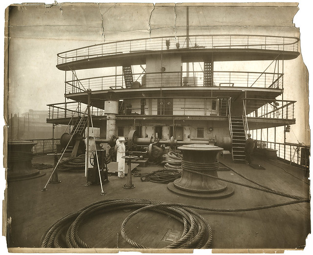 Small photo of mauretania deck machinery for Definition of a balcony