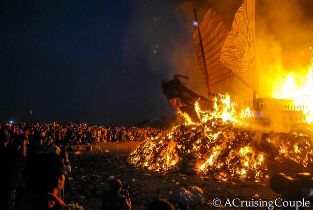 Boat Burning Festival Taiwan Crowd