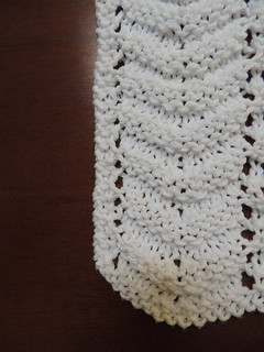 Detail from Feather and Fan Dishcloth