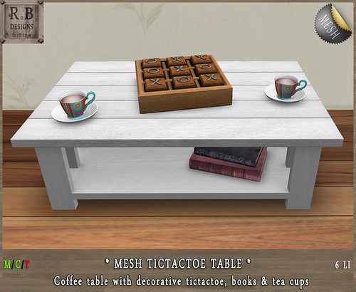 PROMO ! *RnB* Mesh Table - TicTacToe White (copy)