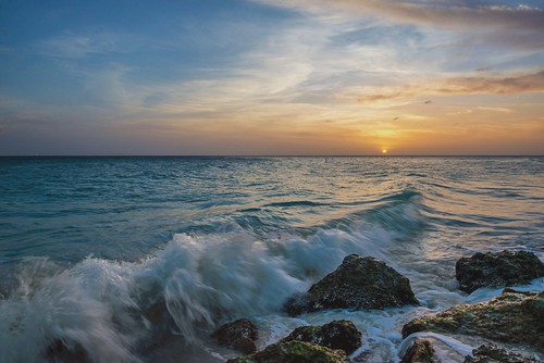 sunset beach water nikon waves dusk resort aruba palmtrees palmtree hammock hdr oranjestad d600 nikond600 oranjestadaruba diviresort davedicello sunsetinaruba hdrexposed diviallinclusive tamarijnallinclusive dusksunsetinaruba