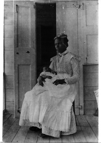Woman with a child of upper class. St. Croix, the Danish West Indies