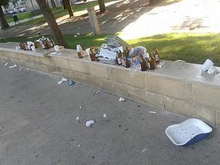 rifiuti umani a piazza pinto e palo VI