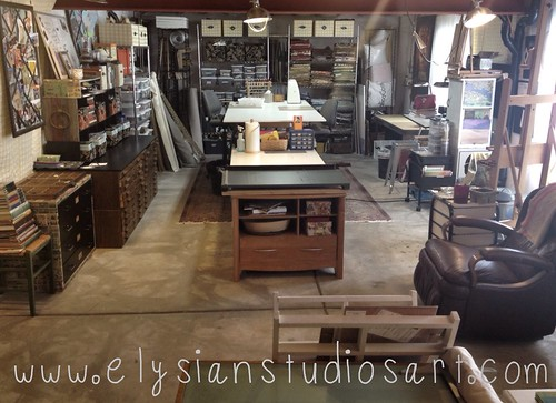 A cleaned up studio! Ready to start new projects and create new work!