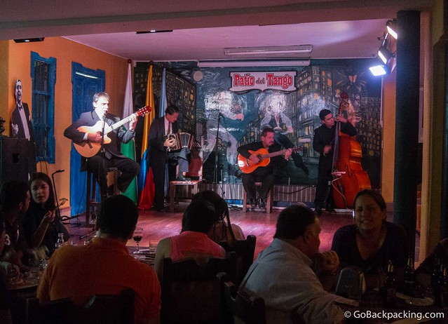 Musicians perform at Patio del Tango