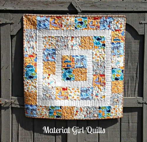 Baby boy quilt cover