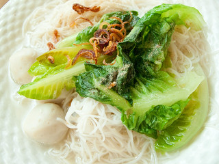 IMG_2496 鱼丸清汤米粉,Fish balls soup beehoon