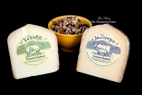 Vermont Shepherd cheeses - Verano (summer) and Invierno (winter)