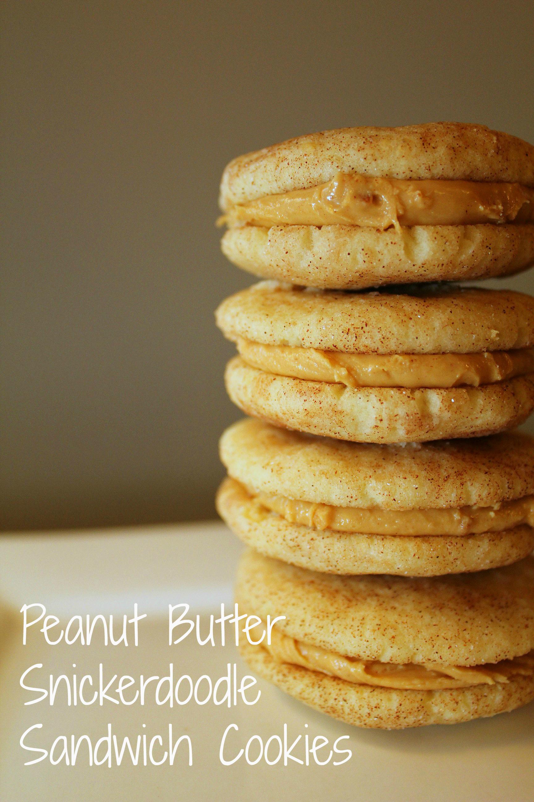 peanut butter snickerdoodle sandwich cookies