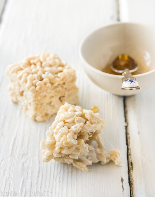 Salted Honey Rice Krispies Treat