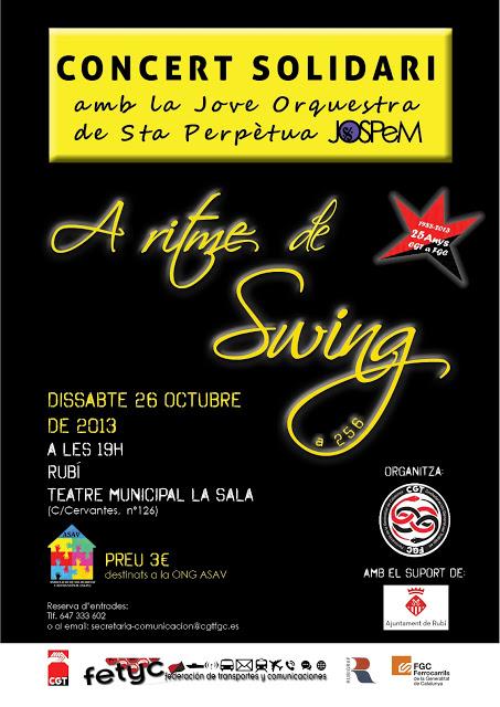 Concert solidari amb jove orquestra de sta. Perpètua dissabte 26 octubre a Rubí