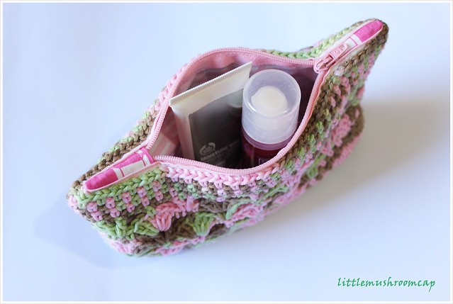 Crochet make up pouch handmade
