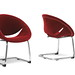 2 Dufresne Red Velveteen Dining Chairs
