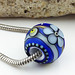 CHARM BEAD : BLUE & ICE