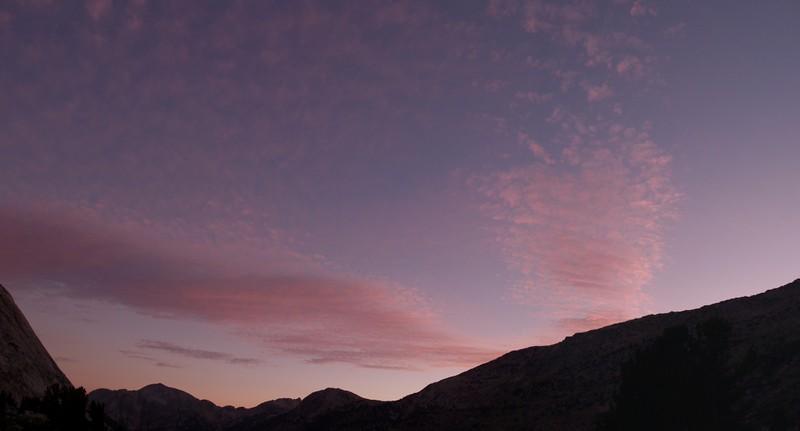 Sunset clouds in Matterhorn Canyon