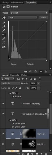 Screenshot of Curves Adjustment Layer