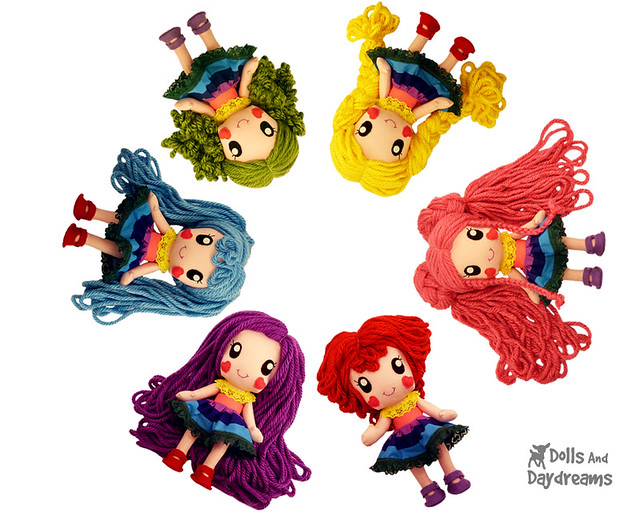 Rainbow Babies Doll Sewing Pattern Kawaii Anime Manga Chibi Toy
