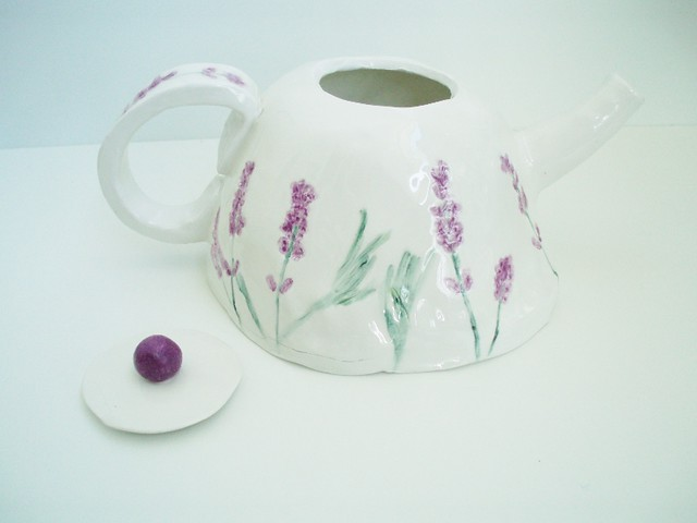 ceramic lavender tea pot flickr photo sharing