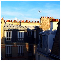 A sunny Paris greet me from my rooftop flat #leweb