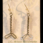 Number 25 - Jennie Milner, Dragonfly earrings, sterling silver, starting bid $25