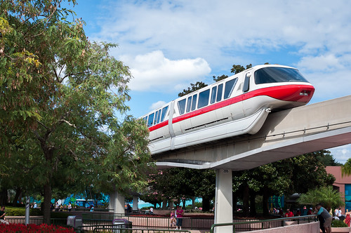 Monorail Monday - Red On Blue by Jeff.Hamm.Photography