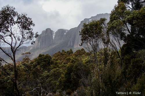 Cathedral mountain. Overland track Tasmania Day4