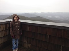 Sophie at Brasstown Bald