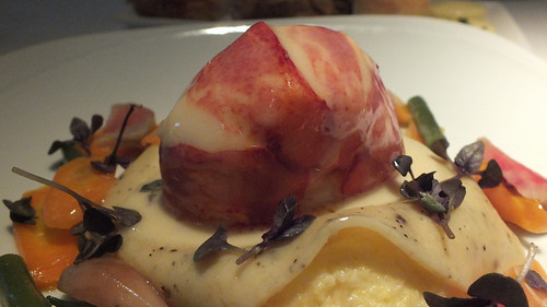 Mauritana Grille - Poached lobster with polenta