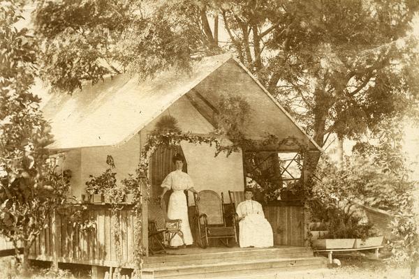 Tent house on Koreshan property in Estero, Florida