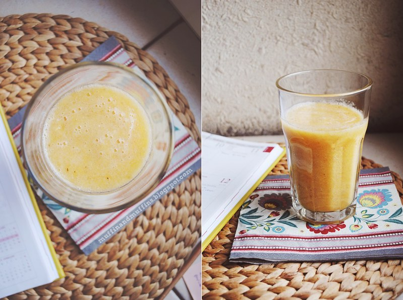 Banana Orange and Ginger Smoothie