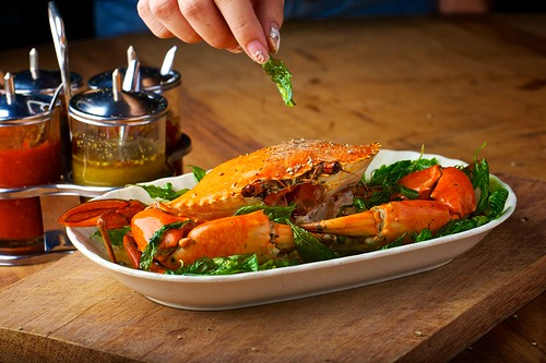 Basil Black Pepper Crab by foodiegoodiex