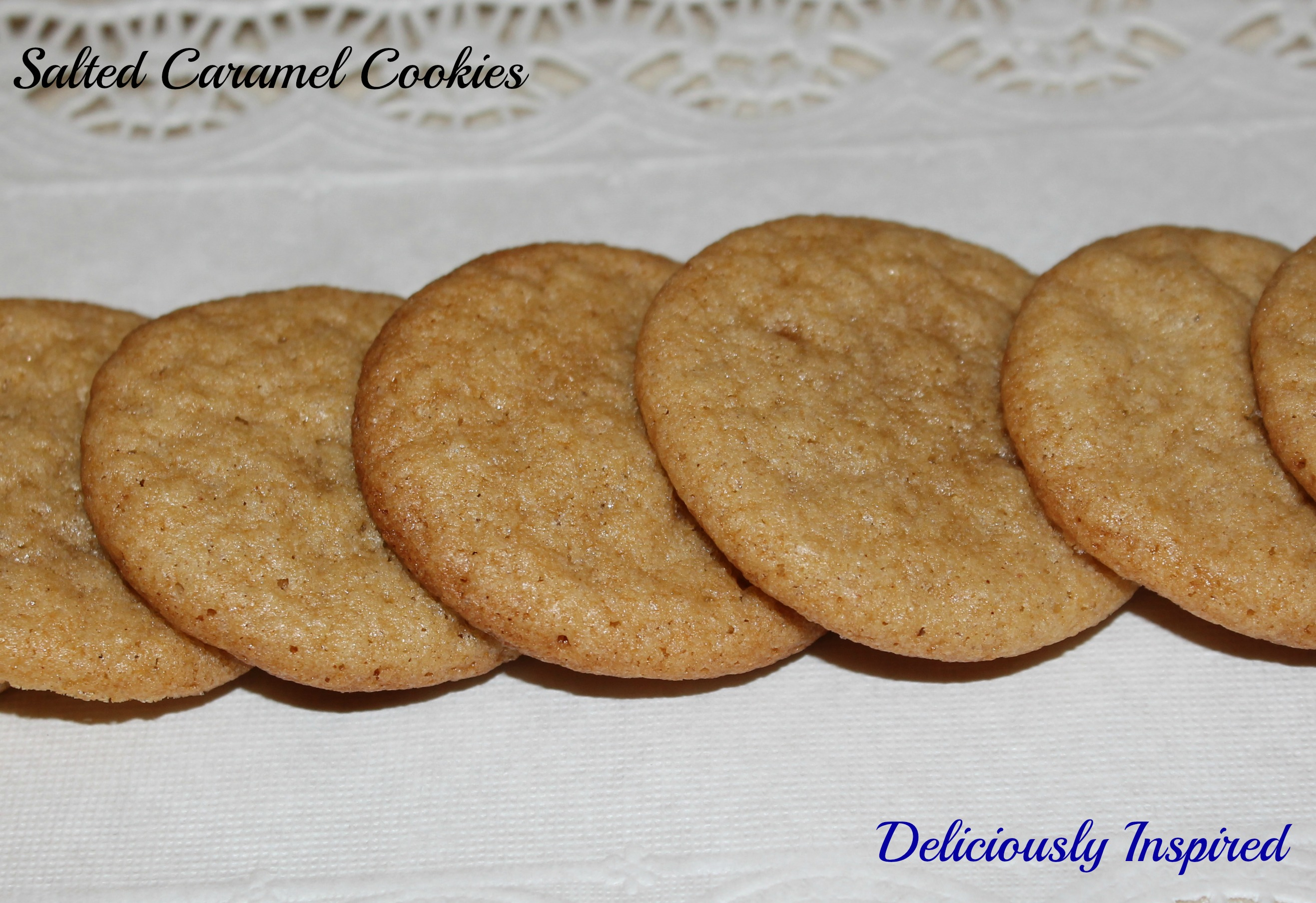 Salted Caramel Cookies - presentation - length