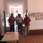Dispensaire : Etat des lieux avec l'infirmier et le Président  de l'association de CVD