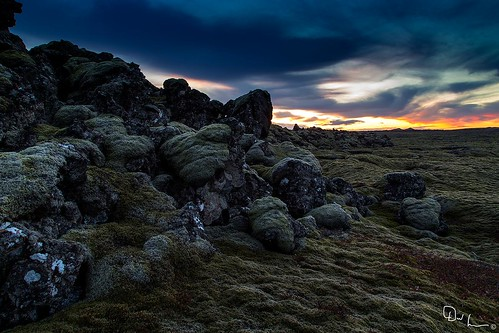 blue sunset lava iceland moss lagoon volcanic