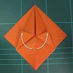 การพับกระดาษเป็นที่คั่นหนังสือหมีแว่น (Spectacled Bear Origami)  โดย Diego Quevedo 007