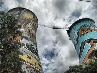 Image of Orlando Towers. africa art sport graffiti orlando extreme towers johannesburg joburg soweto johannesburgo