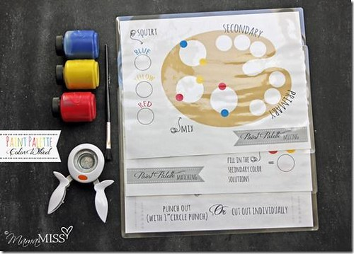 Paint Palette Mixing (Photo from Mama Miss)