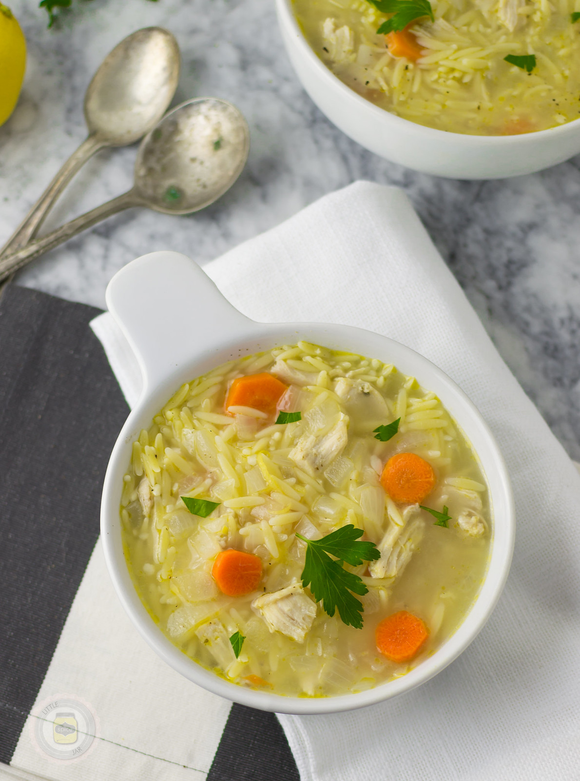 Lemongrass Chicken Orzo Soup Little Spice Jar