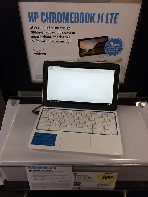 Verizon LTEが使えるHPのChromebookあった。