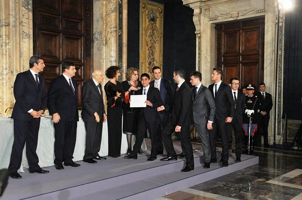 Noicattaro. Vito Zaccaro premiato da Napolitano intero 1