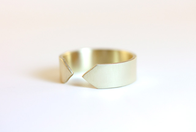 3 rebecca mir grady recycled gold ring made in the usa