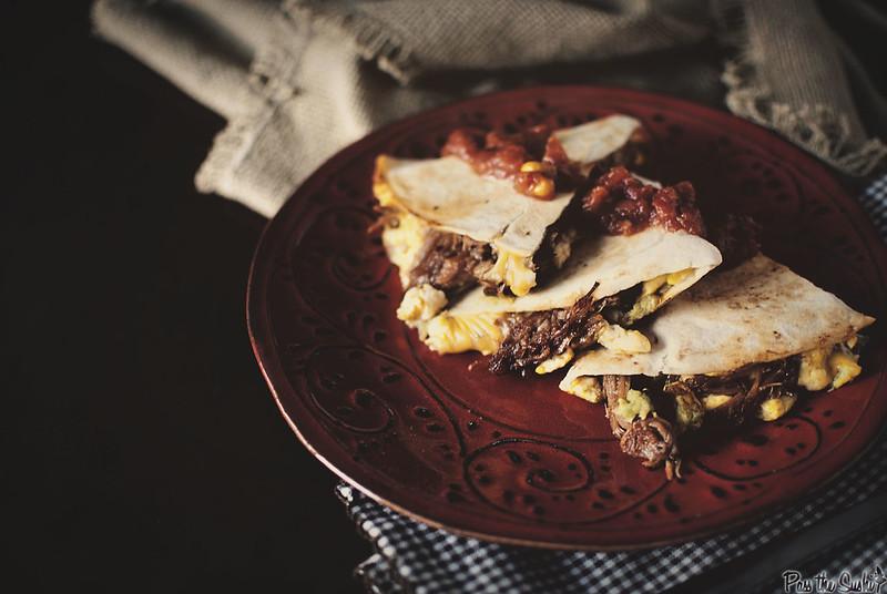 BBQ Pork Breakfast Quesadilla // Girlcarnivore.com
