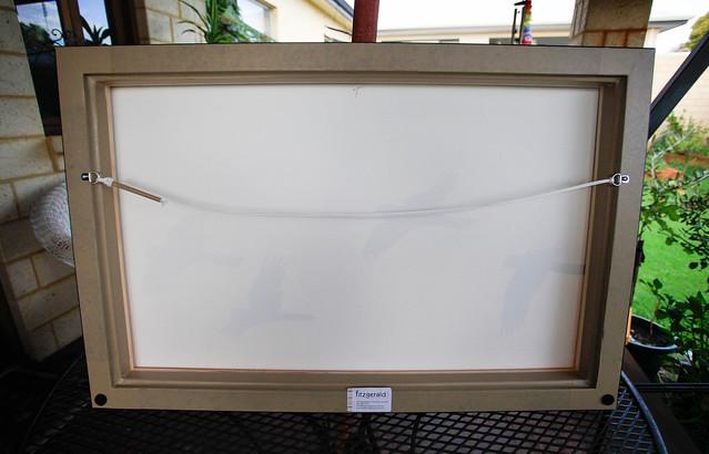 Black Cockatoo sunrise $380, such quality framing