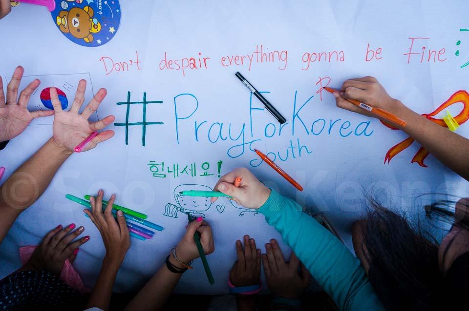 #PrayForSouthKorea @ Bangkok, Thailand