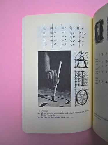 Roland Barthes, Variazioni sulla scrittura. Einaudi 1999. [Responsabilità grafica non indicata]. Tavola numero 10 fuori testo [pag. 10] (part.), 1