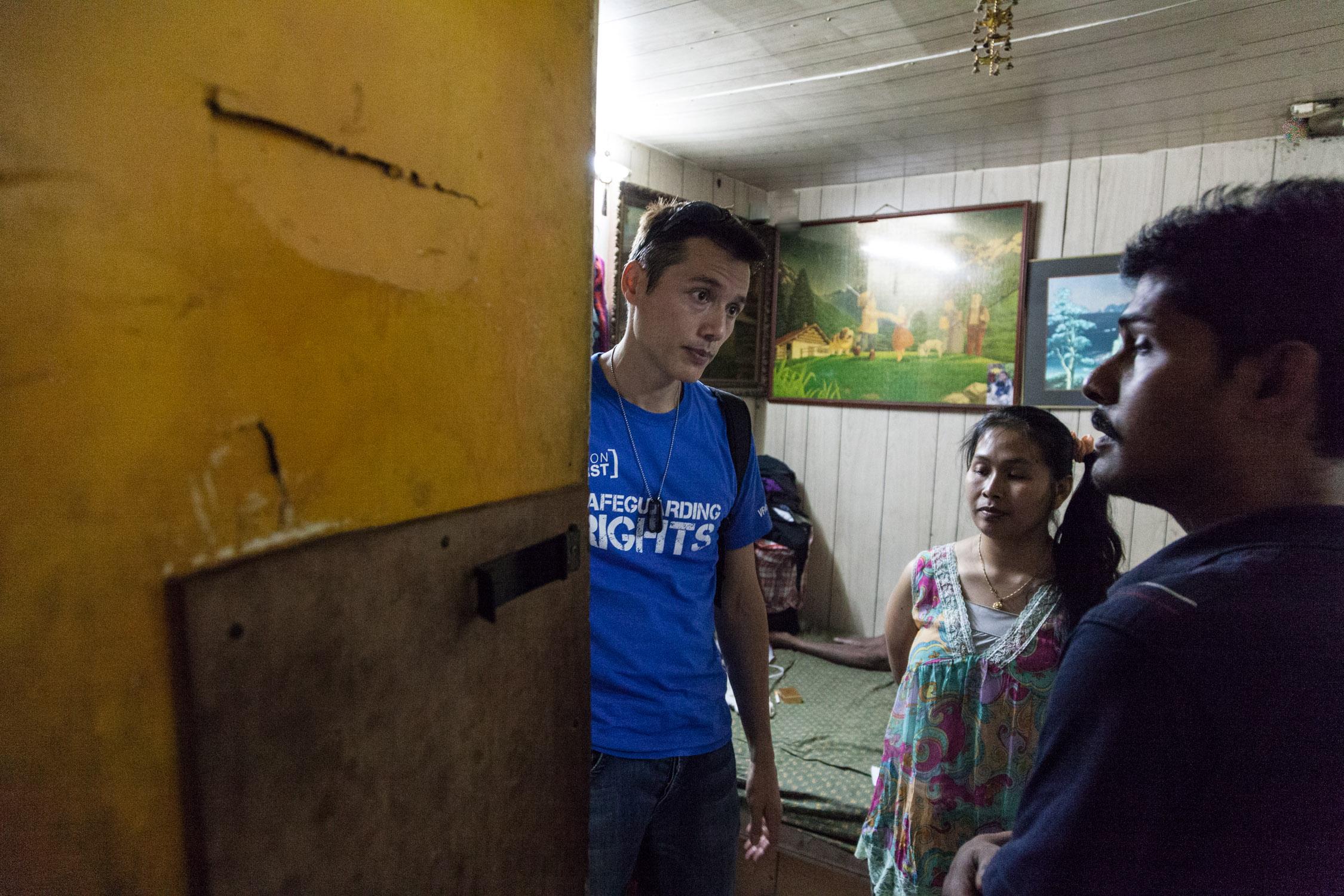 本地有志願組織 First Vision 經常探訪關懷難民及提供支援