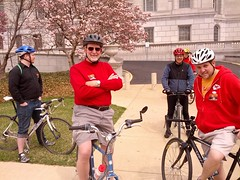 Annual Legislators Bike Ride - from the Capitol across the Missouri  River Bridge
