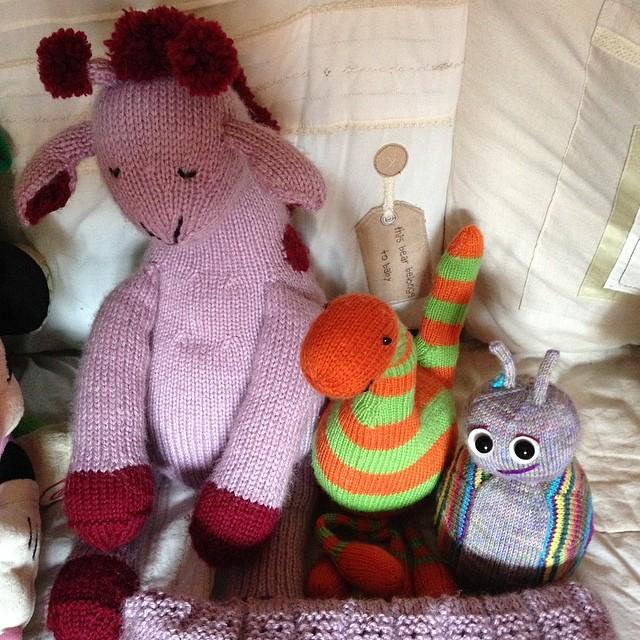 My niece's stuffed toys